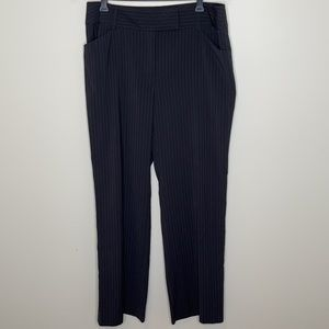 Style&Co navy pinstripe straight leg mid rise pant